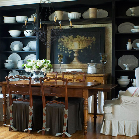 Traditional dining rooms better homes gardens for Better homes and gardens dining room ideas