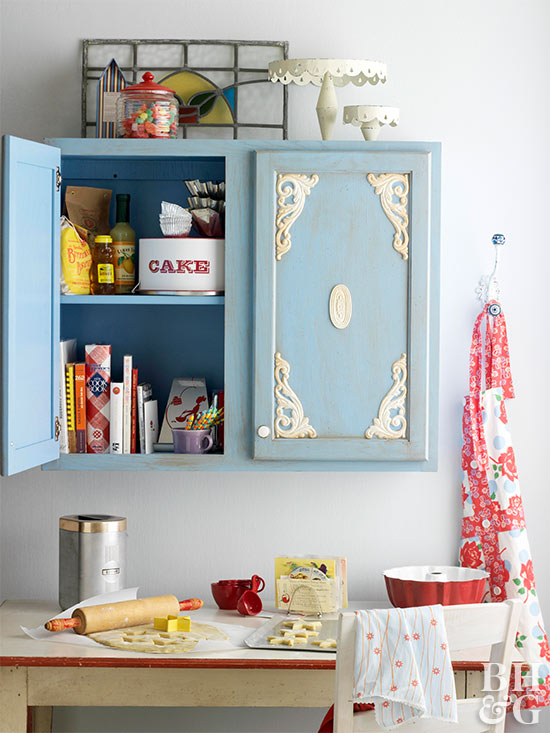 Kitchen Cabinet Makeover: Embellished Cottage Cabinets