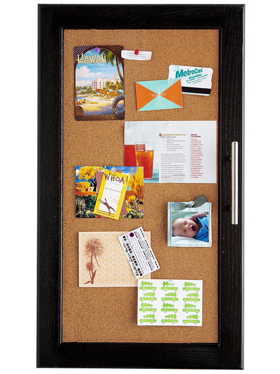 Kitchen Cabinet Makeover: Corkboard Cabinets