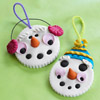 Clay Snowman Christmas Ornament