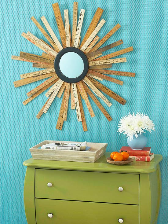 How To: Repurposed Ruler Starburst Mirror