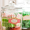 Colorful Glass Candy Jar
