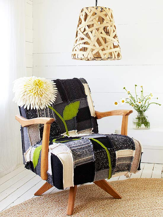 Felted Patchwork Chair Cover