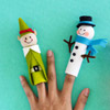 Frosty the Snowman Finger Puppet