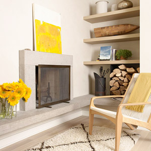 Kitchen Fireplace - Better Homes and Gardens - BHG.com