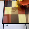 Fall Color Patchwork Table