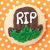 Gravestone Halloween Cookie