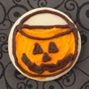 Jack-o'-Lantern Basket Cookie