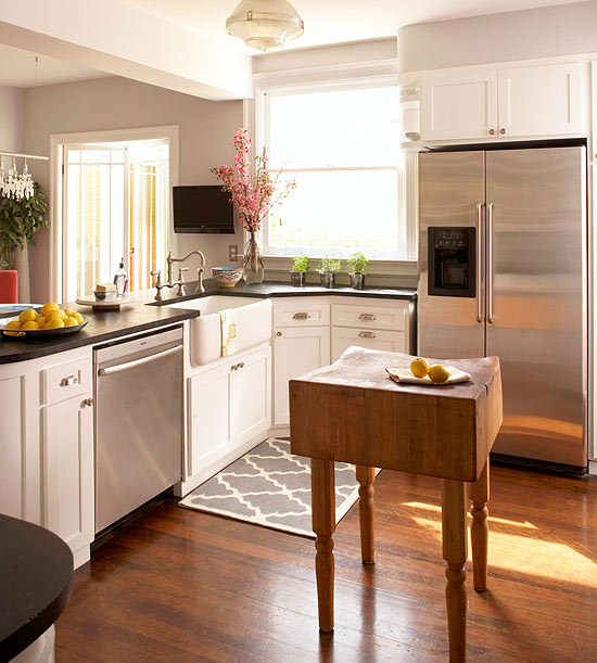 Small Kitchen With Island small-space kitchen island ideas - bhg