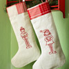 Stitched Elf Stockings