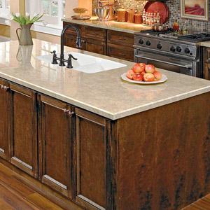 Granite Over Existing Countertops Four Ways To Get The Look Of Granite Countertops  Better Homes .
