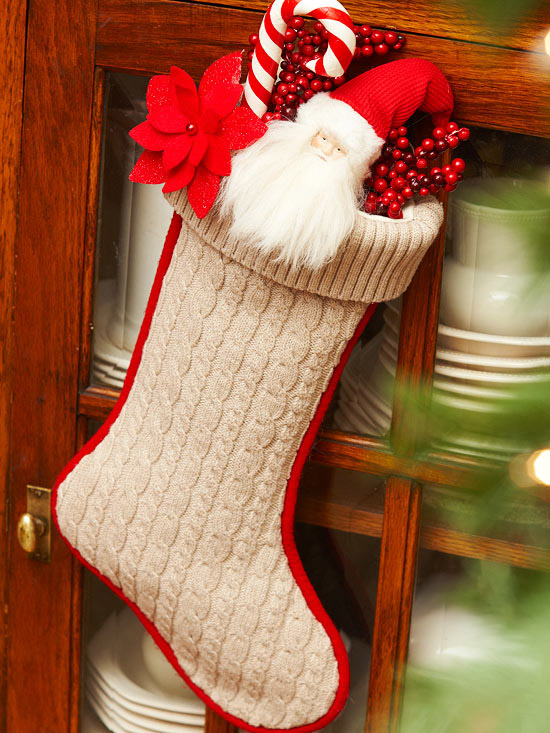 Cable-Knit Christmas Stocking