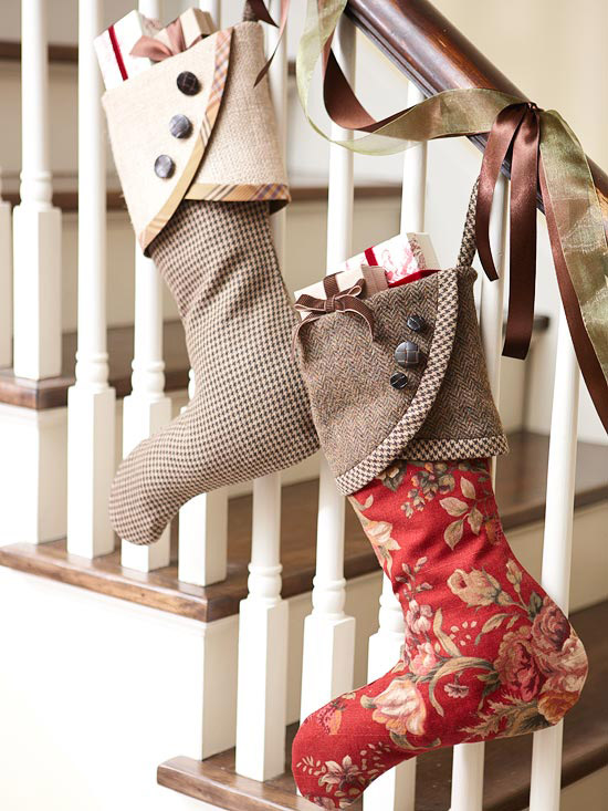 tailored design christmas stockings from better homes and gardens - Christmas Stocking Design Ideas