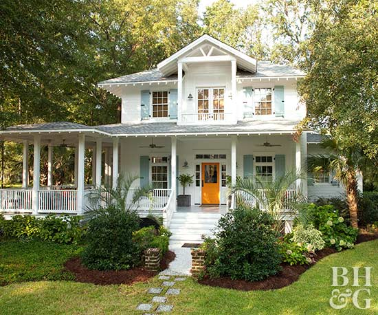 house decorating a citrus color scheme for a family cottage - Cottage Decorating