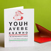 Santa's Eye Chart Christmas Card