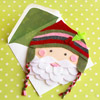 Felt Santa Claus Christmas Card