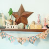 Valentine's Day Shelf with Vintage Decorations