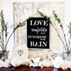 Framed Love Quote Decoration