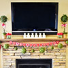 Valentine's Day Mantel Decorations with Television