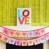 Love Mantel with Valentine Heart Banner
