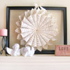 Simple Valentine's Day Mantel with Sheet Music Wreath