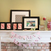 Inexpensive Valentine's Mantel