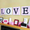 Valentine's Day Mantel with White-and-Pink Accents