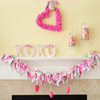 Simple Pink Valentine's Mantel
