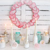 Valentine's Mantel with Candles