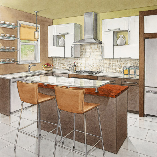 kitchen aisle home design