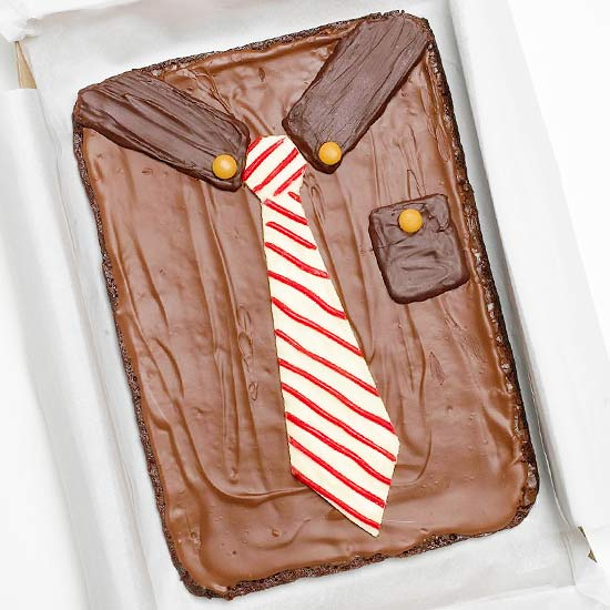 Shirt-and-Tie Father's Day Cake