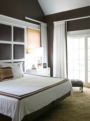 Neutral paint colors in a bedroom are popular for a reason. Creamy white  walls let you play with any color combination in your bedding and  accessories.