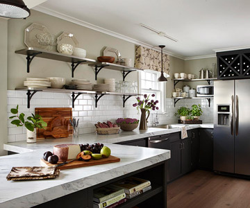 Function And Aesthetics Wall Mounted Open Shelving Is A Must Right Now It Extremely Por To Use In Place Of Kitchen Cabinets Check Out These
