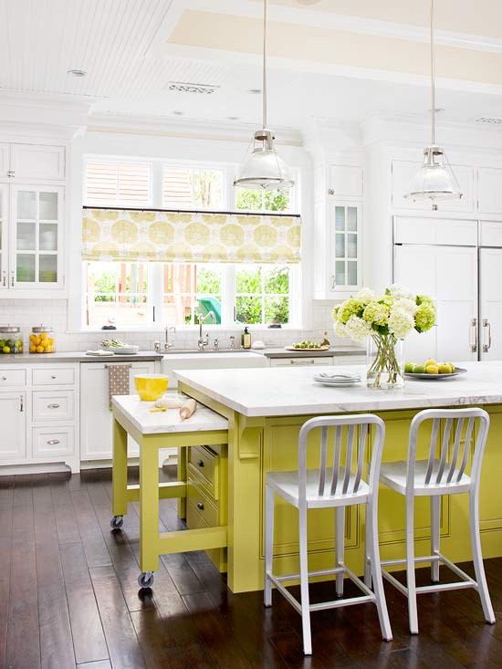 Kitchen Island Green green color schemes