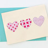 Patterned Hearts Card