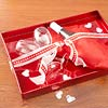 Champagne on a Valentine's Tray