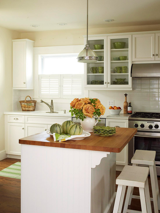 cottage style island - Better Homes And Gardens Kitchen Ideas