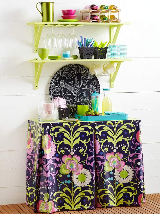 Create a Beverage Station from Shelving