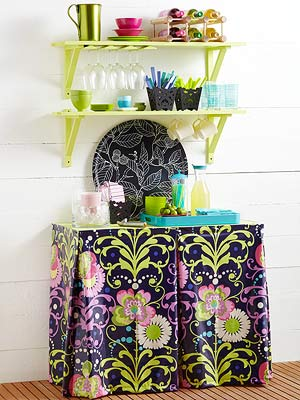 Create a Beverage Station from Shelving - Better Homes & Gardens - BHG.com