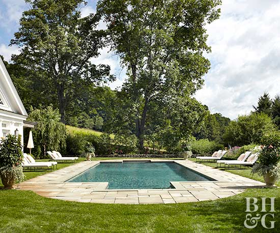 Pool landscaping inspiration better homes and gardens for Better homes and gardens swimming pools