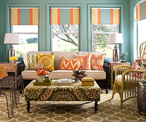 Colorful Sunroom Makeover