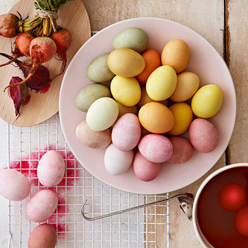Natural Egg Dye Formulas