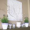 White and Lavender Spring Mantel