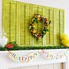 Spring Mantel with Happy Easter Bunting