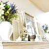 Sophisticated Spring Mantel in White