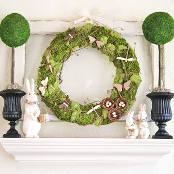 Real Homes, Real Easter Mantel Displays
