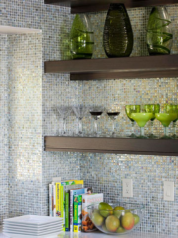 Glass Backsplash Inspiration