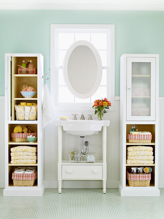basket storage makes any bathroom look neat and tidy as you select baskets for your space make sure you take into account the material - Bathroom Baskets