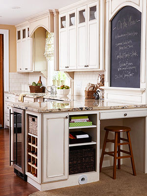 Use The Wall Above Your Kitchen Peninsula Or Other Wall Space As A Menu  Chalkboard. Here, Custom Moldings Encase The Chalkboard.