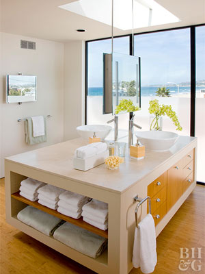 bamboo is ecofriendly and also easy on the budget costing as little as half the price of hardwood floors in the bathroom the smart choice - Bathroom Floors